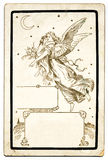 Carte antique d'ange illustration stock