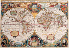 Carte antique de haute qualité Images stock