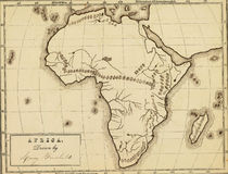 Carte antique de l'Afrique. Photo stock