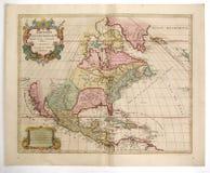 Carte antique de l'Amérique Photographie stock
