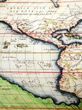 carte antique de l'Amérique photographie stock libre de droits