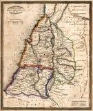 carte antique de l'Israël vieille Images stock