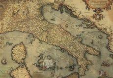 Carte antique de l'Italie Photo libre de droits