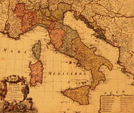 Carte antique de l'Italie Photographie stock libre de droits