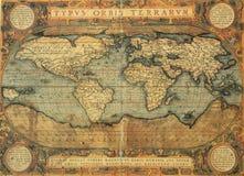 Carte antique de monde images stock