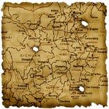 Carte antique de porcelaine Photo libre de droits
