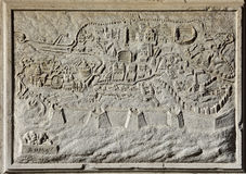 Carte antique de Rome, la ville éternelle Images stock