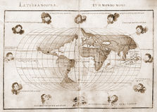 Carte antique du monde Photos stock