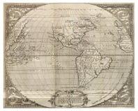 Carte antique du monde Image libre de droits
