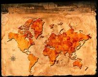 Carte antique du monde illustration libre de droits