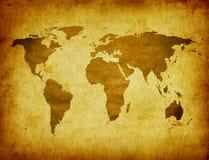 Carte antique du monde illustration de vecteur