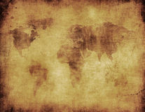 Carte antique du monde image stock