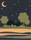 Carte avec arbres stylisés Images stock