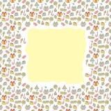 Carte avec des bonbons Photographie stock libre de droits