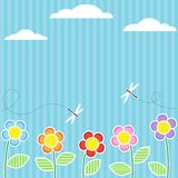 Carte avec des fleurs Images libres de droits