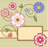 Carte avec des fleurs Image libre de droits
