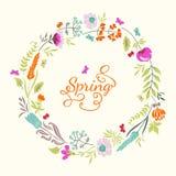 Carte avec des fleurs Photo stock