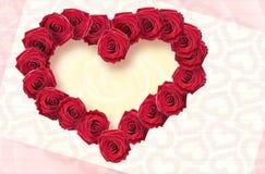 Carte avec des fleurs des roses, Images libres de droits