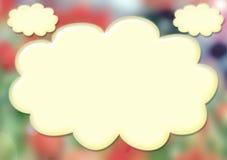 Carte avec des nuages Image stock