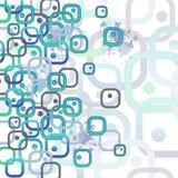 Carte avec des rectangles arrondis Image libre de droits