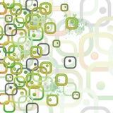 Carte avec des rectangles arrondis Photographie stock libre de droits
