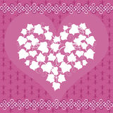 Carte avec Ivy Heart Image stock