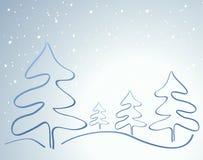 Carte avec l'arbre de Noël Images stock