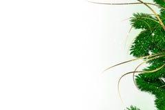 Carte avec la décoration de Noël Image stock