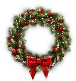 Carte avec la guirlande de Noël Photographie stock libre de droits