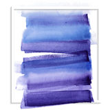 Carte avec la tache bleue d'aquarelle Images libres de droits