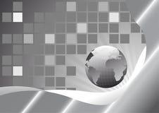 Carte avec la terre dans le gris Photo libre de droits
