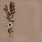 Carte avec le bouquet sur le vieux fond grunge illustration libre de droits