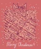 Carte avec le cadeau Photos stock