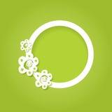 Carte avec le cadre 3d floral rond Image libre de droits