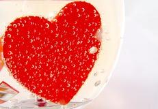Carte avec le coeur et les fioles Photo libre de droits