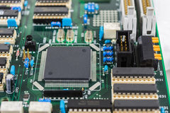 Carte avec le fond de composants électroniques Image stock