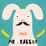 Carte avec le lapin Lapin drôle Images libres de droits