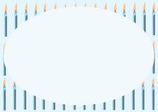 Carte avec les bougies bleues Image libre de droits
