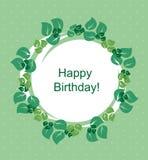 Carte avec les lames vertes Image stock