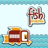 Carte avec les poissons décoratifs illustration libre de droits