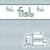 Carte avec les poissons décoratifs de vecteur illustration de vecteur