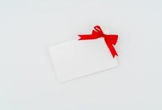 Carte avec les proues rouges de bandes Photo stock
