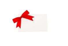 Carte avec les proues rouges de bandes Image stock
