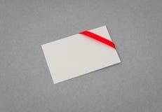 Carte avec les proues rouges de bandes Photographie stock libre de droits