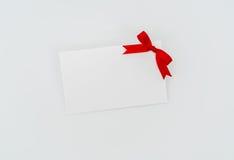 Carte avec les proues rouges de bandes Photographie stock