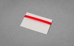 Carte avec les proues rouges de bandes Images libres de droits