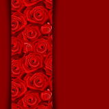 Carte avec les roses rouges. Photo stock