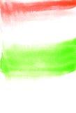 Carte avec les taches vertes et de rouge Peinture d'aquarelle pour la conception Texture abstraite Photographie stock libre de droits