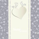 Carte avec un coeur Image stock