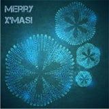 Carte avec une chanson de Noël Image libre de droits